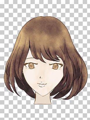 Brown Hair Hime Cut Black Hair Hair Coloring PNG