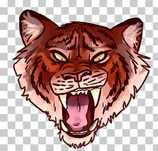 Tiger Cat Lion Roar Drawing PNG