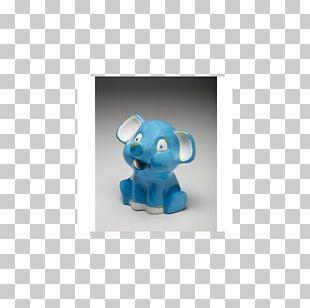 Figurine Elephantidae Turquoise PNG