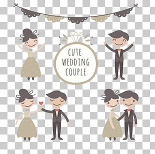 Wedding Couple Marriage Drawing Bridegroom PNG