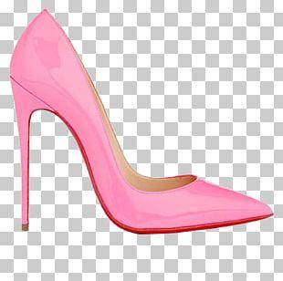 High-heeled Footwear Pink Shoe PNG