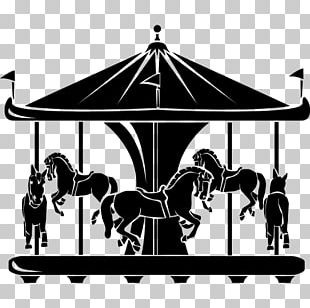 Horse Carousel Traveling Carnival Silhouette Photography PNG