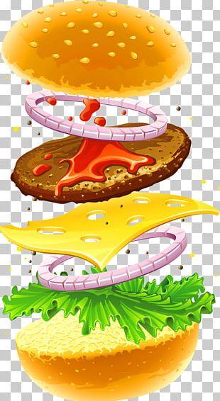 Hamburger Veggie Burger Fast Food Cheeseburger French Fries PNG