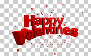 Red Valentine's Day Brand Graphic Design PNG