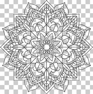Mandala Coloring Book Drawing PNG