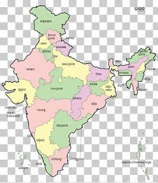 States And Territories Of India Map Union Territory PNG