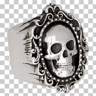 Skull Body Jewellery Silver PNG