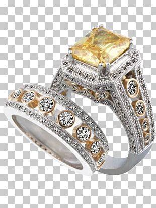 Topaz Engagement Ring Wedding Ring Diamond PNG