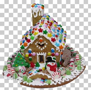 Gingerbread House Icing Christmas Pastry PNG