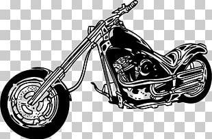 Harley-Davidson Motorcycle Chopper PNG