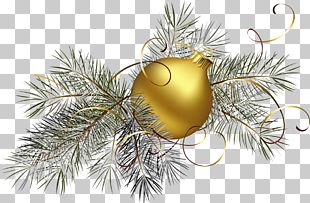 Christmas Ornament Gold PNG
