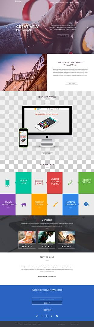 Responsive Web Design Web Page Web Template System Website PNG
