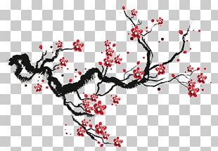 Cherry Blossom Drawing Watercolor Painting Sketch PNG