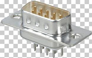 D-subminiature Electrical Connector VGA Connector Electronic Component Through-hole Technology PNG