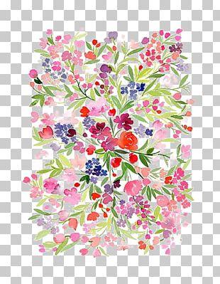 Watercolour Flowers Watercolor Painting Floral Design PNG