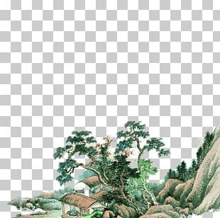 Chinese Painting Wall Mural PNG