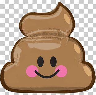 Balloon Pile Of Poo Emoji Smiley Birthday PNG