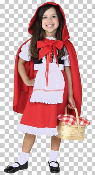 Little Red Riding Hood Big Bad Wolf Halloween Costume PNG