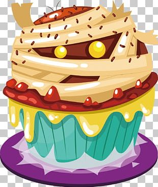 Cupcake Halloween Cake Birthday Cake PNG