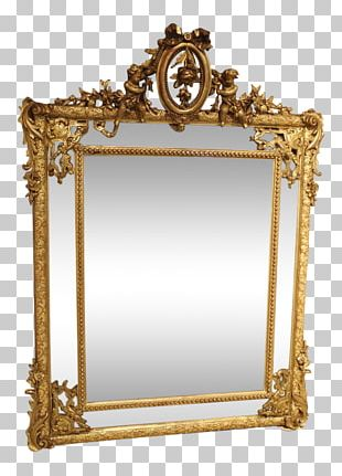 Manor House Mirror English Country House Antique PNG