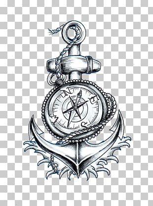 Compass Anchor Ship's Wheel PNG