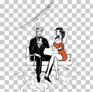 Sitting Cartoon Woman Illustration PNG