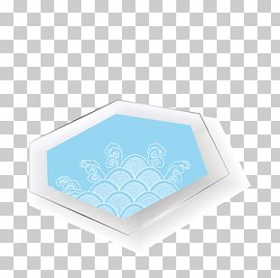 Blue Texture Mapping Glass PNG