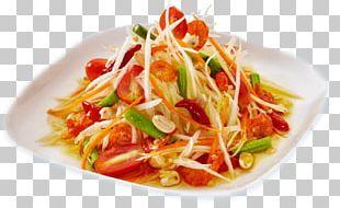 Green Papaya Salad Thai Cuisine Salted Duck Egg Thai Salads PNG