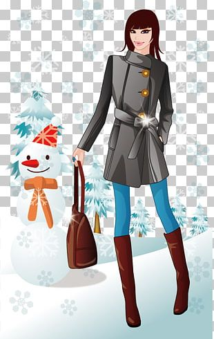 Winter Clothing Bag Graphic Arts PNG