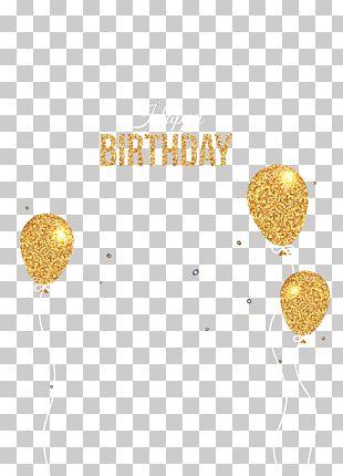 Balloon Birthday Greeting Card PNG