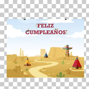 Landscape Augur Cartoon Birthday Font PNG
