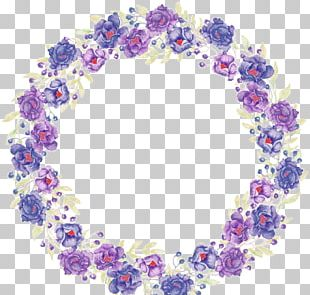 Watercolor Painting Painted Violet PNG