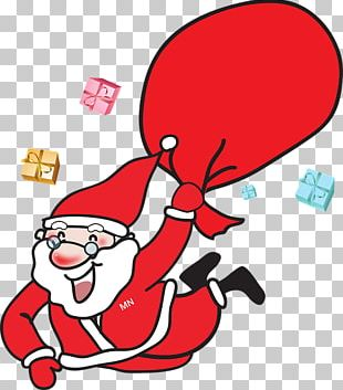 Santa Claus Père Noël Christmas Gift Reindeer PNG