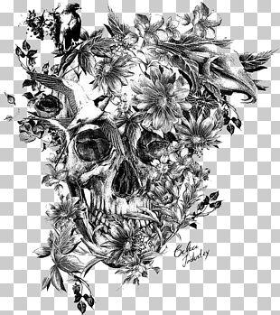 Calavera Sleeve Tattoo Skull Black-and-gray PNG