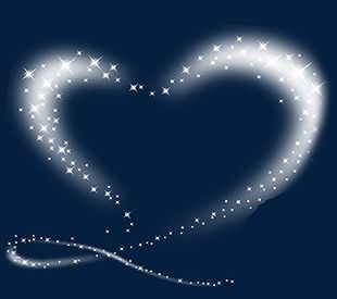 Simple White Love Shine Effect Elements PNG