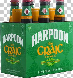 Beer Bottle India Pale Ale Harpoon Brewery PNG