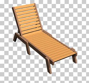 Chaise Longue Deckchair Garden Furniture Wood PNG