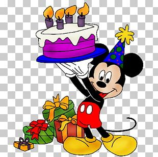 Mickey Mouse Birthday Cake Greeting & Note Cards PNG
