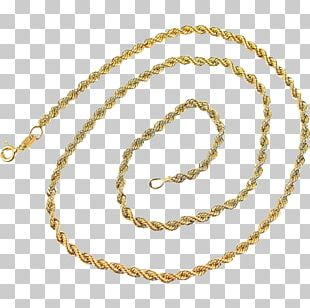 Earring Necklace Jewellery Gold Rope Chain PNG