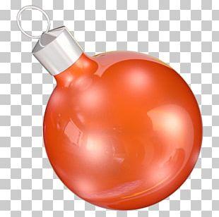Orange Christmas Ornament Fruit PNG