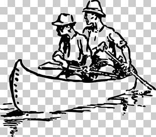 Canoe Drawing Rowing Kayak PNG