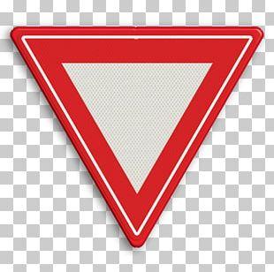 Hak Utama Pada Persimpangan Stop And Yield Lines Traffic Sign Voorrangsweg PNG