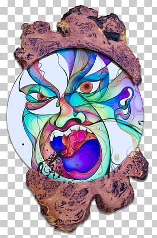 Artist Décor Fusion Design Mirror Sculpture PNG