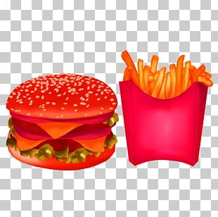 French Fries Cheeseburger Hamburger Fast Food Junk Food PNG