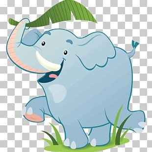 African Elephant Child Sticker Wall Decal PNG