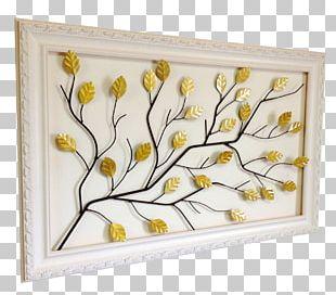 Floral Design Branch Leaf Tree Frames PNG