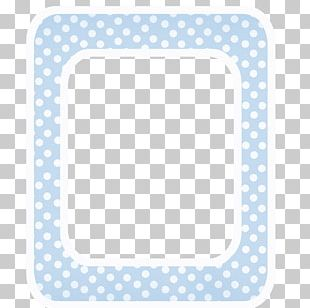 Polka Dot Blue Baby Announcement PNG
