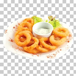 Onion Ring French Fries Tartar Sauce Squid As Food Fried Onion PNG