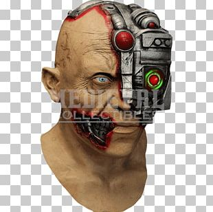 Halloween Costume Latex Mask Cyborg PNG