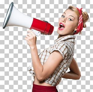 Stock Photography Megaphone Woman PNG
